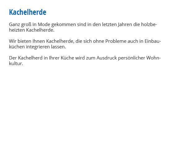 Kachelherd